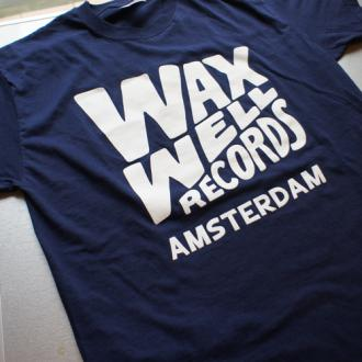 Waxwell Records T-shirts (Navy)